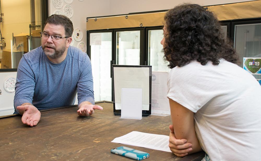 ASF Co-Director Meisa Salaita talks with Keith Schroeder