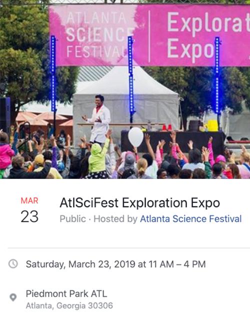 AtlSciFest Exploration Expo Event on Facebook Details