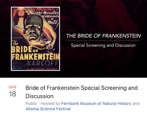 Facebook Event Example: Bride of Frankenstein Special Screening and Discussion