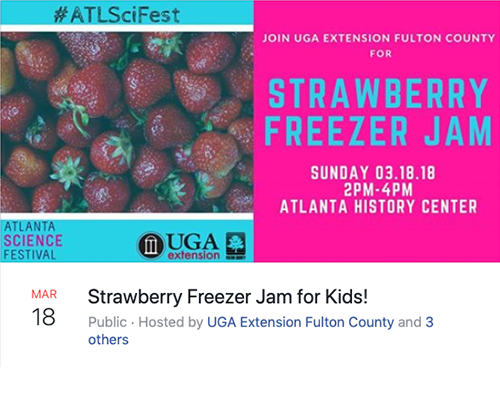 Facebook Event Example: Strawberry Freezer Jam for Kids!